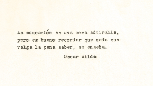 Cit. Oscar Wilde