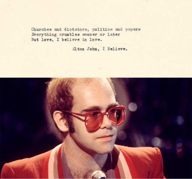 Elton John I believe